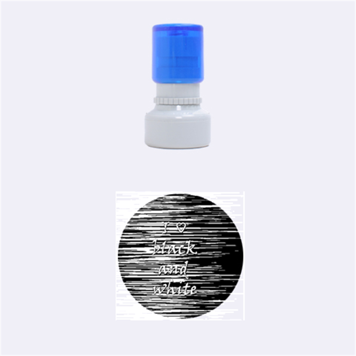 I love black and white Rubber Round Stamps (Small)