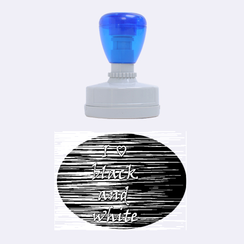 I love black and white Rubber Oval Stamps
