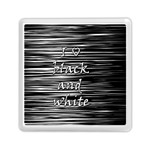 I love black and white Memory Card Reader (Square)  Front