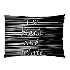 I Love Black And White Pillow Case (two Sides)
