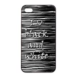 I love black and white Apple iPhone 4/4s Seamless Case (Black) Front
