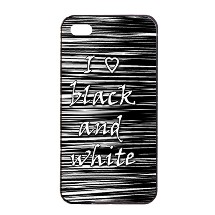 I love black and white Apple iPhone 4/4s Seamless Case (Black)