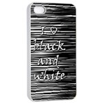 I love black and white Apple iPhone 4/4s Seamless Case (White) Front