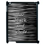 I love black and white Apple iPad 2 Case (Black) Front