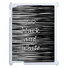 I Love Black And White Apple Ipad 2 Case (white)