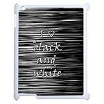 I love black and white Apple iPad 2 Case (White) Front