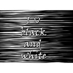 I love black and white BOY 3D Greeting Card (7x5) Back