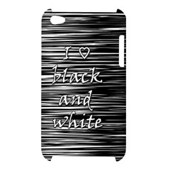 I love black and white Apple iPod Touch 4