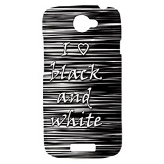 I love black and white HTC One S Hardshell Case