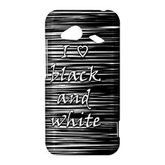 I love black and white HTC Droid Incredible 4G LTE Hardshell Case