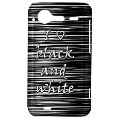 I love black and white HTC Incredible S Hardshell Case