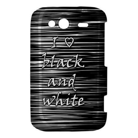 I love black and white HTC Wildfire S A510e Hardshell Case