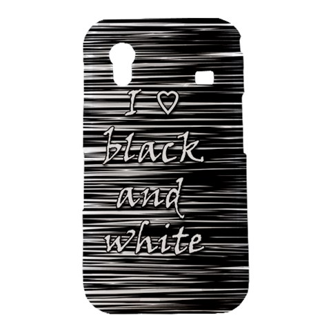 I love black and white Samsung Galaxy Ace S5830 Hardshell Case