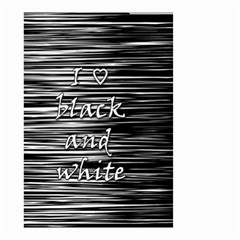 I Love Black And White Small Garden Flag (two Sides)