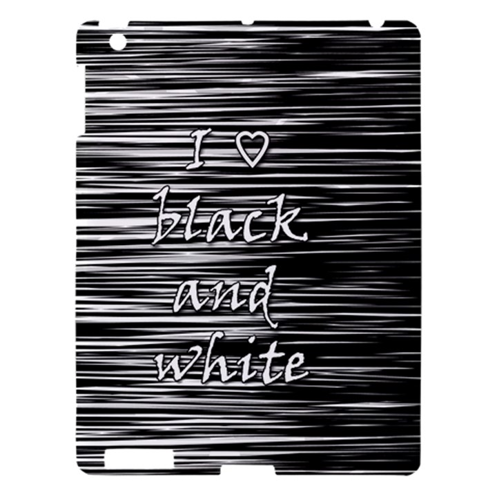 I love black and white Apple iPad 3/4 Hardshell Case