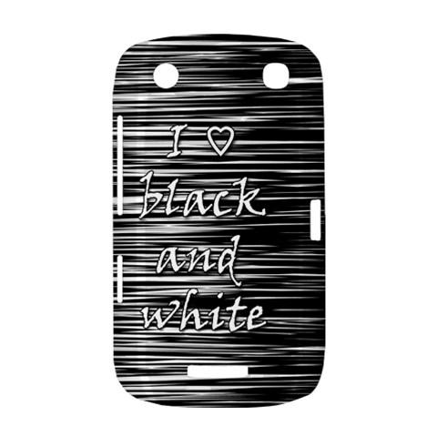 I love black and white BlackBerry Curve 9380