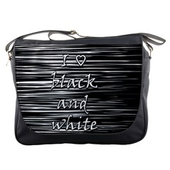 I love black and white Messenger Bags