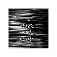 I love black and white Acrylic Tangram Puzzle (4  x 4 )