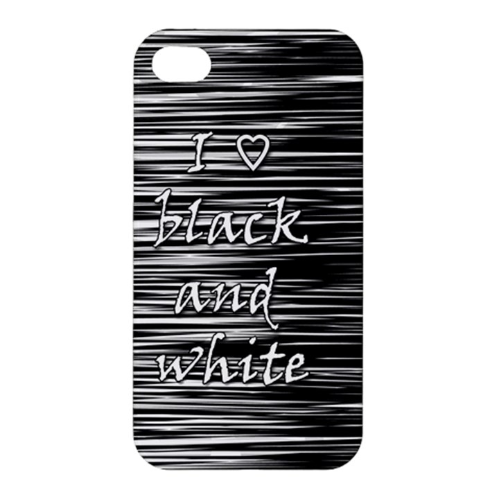 I love black and white Apple iPhone 4/4S Premium Hardshell Case
