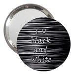 I love black and white 3  Handbag Mirrors Front