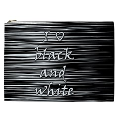 I Love Black And White Cosmetic Bag (xxl)