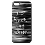 I love black and white Apple iPhone 5 Seamless Case (Black) Front