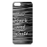 I love black and white Apple iPhone 5 Seamless Case (White) Front