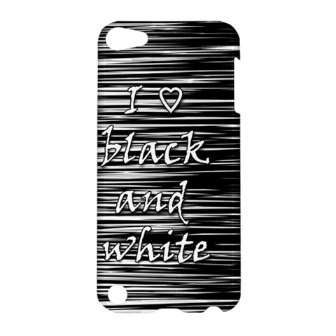 I love black and white Apple iPod Touch 5 Hardshell Case