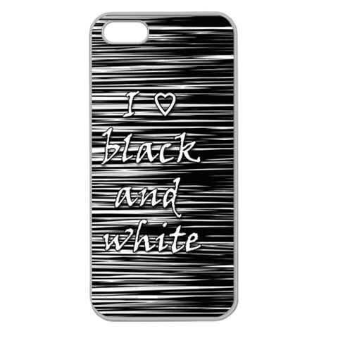 I love black and white Apple Seamless iPhone 5 Case (Clear)