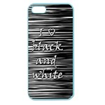 I love black and white Apple Seamless iPhone 5 Case (Color) Front
