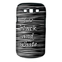 I love black and white Samsung Galaxy S III Classic Hardshell Case (PC+Silicone)