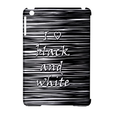 I love black and white Apple iPad Mini Hardshell Case (Compatible with Smart Cover)