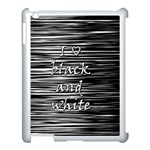 I love black and white Apple iPad 3/4 Case (White) Front