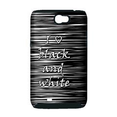 I love black and white Samsung Galaxy Note 2 Hardshell Case (PC+Silicone)