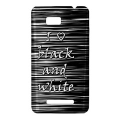 I love black and white HTC One SU T528W Hardshell Case