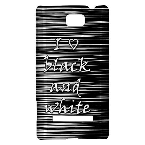 I love black and white HTC 8S Hardshell Case