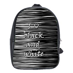 I love black and white School Bags (XL)
