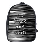 I love black and white School Bags (XL)  Front