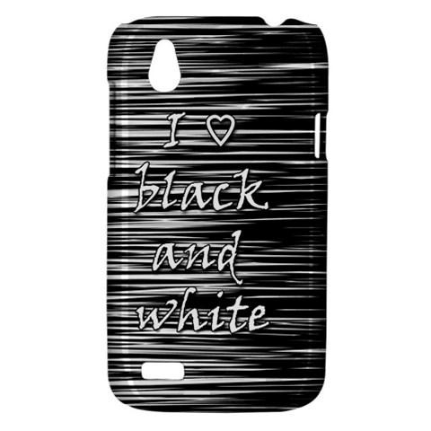 I love black and white HTC Desire V (T328W) Hardshell Case