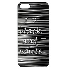 I love black and white Apple iPhone 5 Hardshell Case with Stand