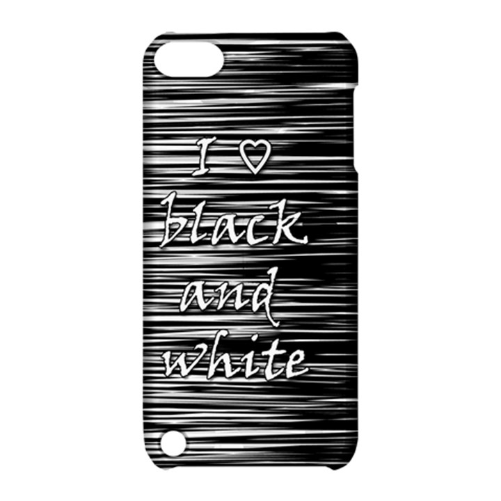 I love black and white Apple iPod Touch 5 Hardshell Case with Stand