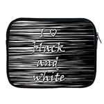 I love black and white Apple iPad 2/3/4 Zipper Cases Front