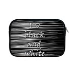 I love black and white Apple iPad Mini Zipper Cases Front