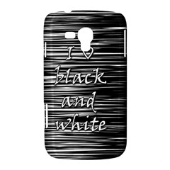 I love black and white Samsung Galaxy Duos I8262 Hardshell Case