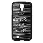 I love black and white Samsung Galaxy S4 I9500/ I9505 Case (Black) Front