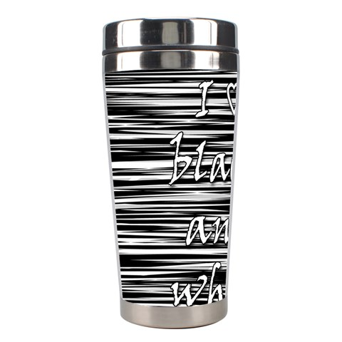 I love black and white Stainless Steel Travel Tumblers