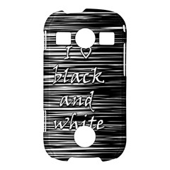 I love black and white Samsung Galaxy S7710 Xcover 2 Hardshell Case