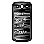 I love black and white Samsung Galaxy S3 Back Case (Black) Front