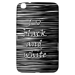 I love black and white Samsung Galaxy Tab 3 (8 ) T3100 Hardshell Case