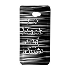 I love black and white HTC Butterfly S/HTC 9060 Hardshell Case